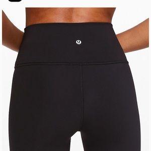"""lulu lemon black 28"""" winder under leggings"""